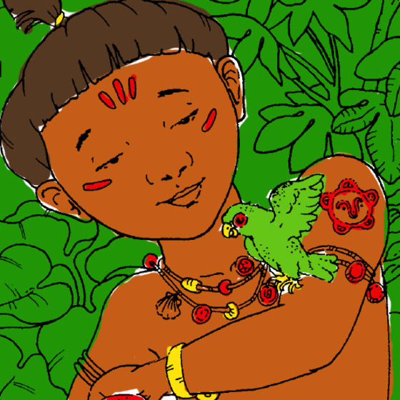 Taíno Coloring Page