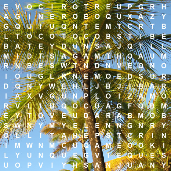 Puerto Rico Wordsearch